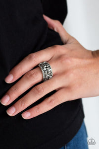 Treasure Trove Tribute Paparazzi Ring-Silver