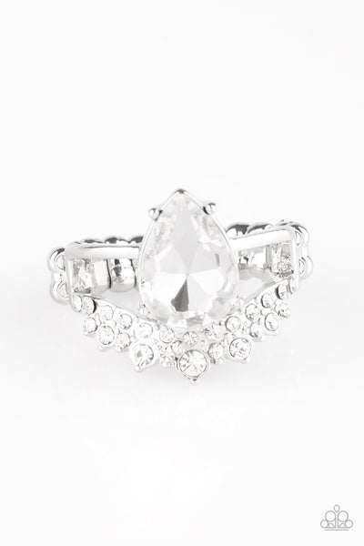 If The Crown Fits Paparazzi Ring-Silver
