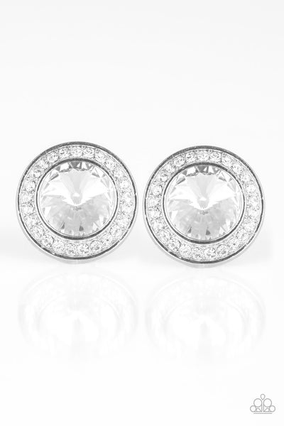 What Should I BLING? Paparazzi Earrings-White