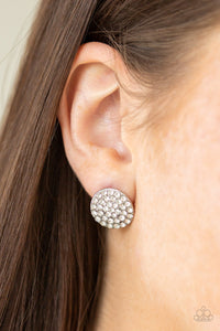Greatest Of All Time Paparazzi Earrings-White