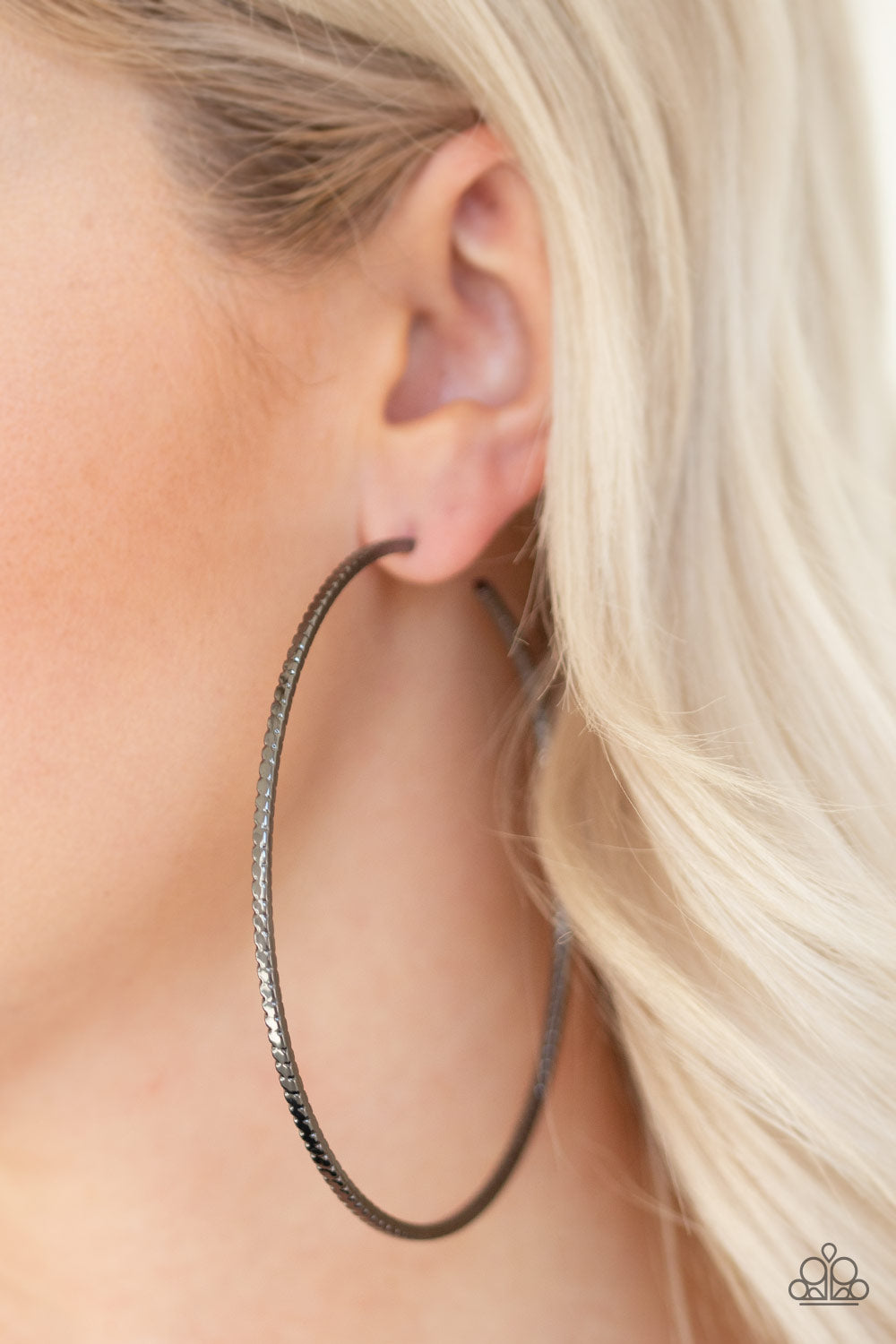 Shimmer Maker Paparazzi Earrings-Black