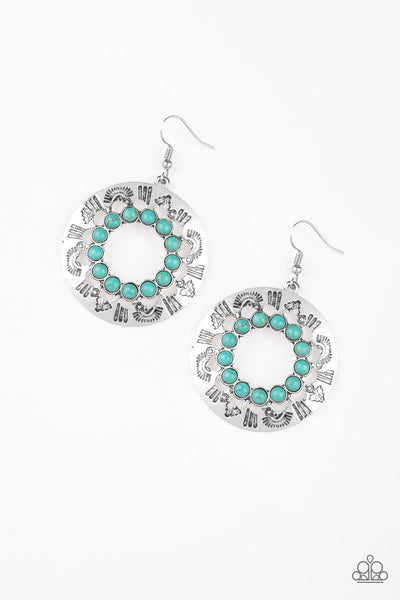 Organically Omega Paparazzi Earrings-Blue