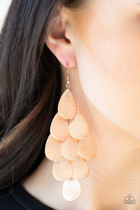 Iconic Illuminations Paparazzi Earrings-Copper