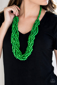 Tahiti Tropic Green Paparazzi Necklace