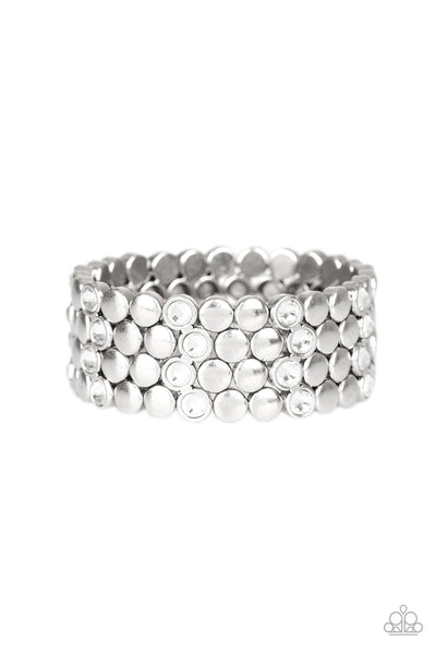Scattered Starlight Paparazzi Bracelet-White