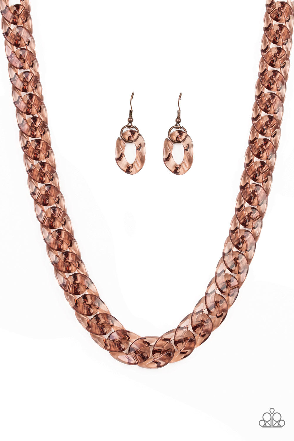 Put It On Ice Paparazzi Necklace-Copper