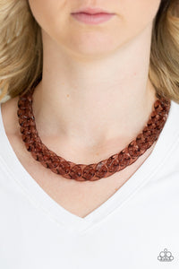 Put It On Ice Copper Paparazzi Necklace