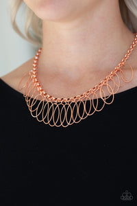 Fringe Finale Paparazzi Necklace-Copper