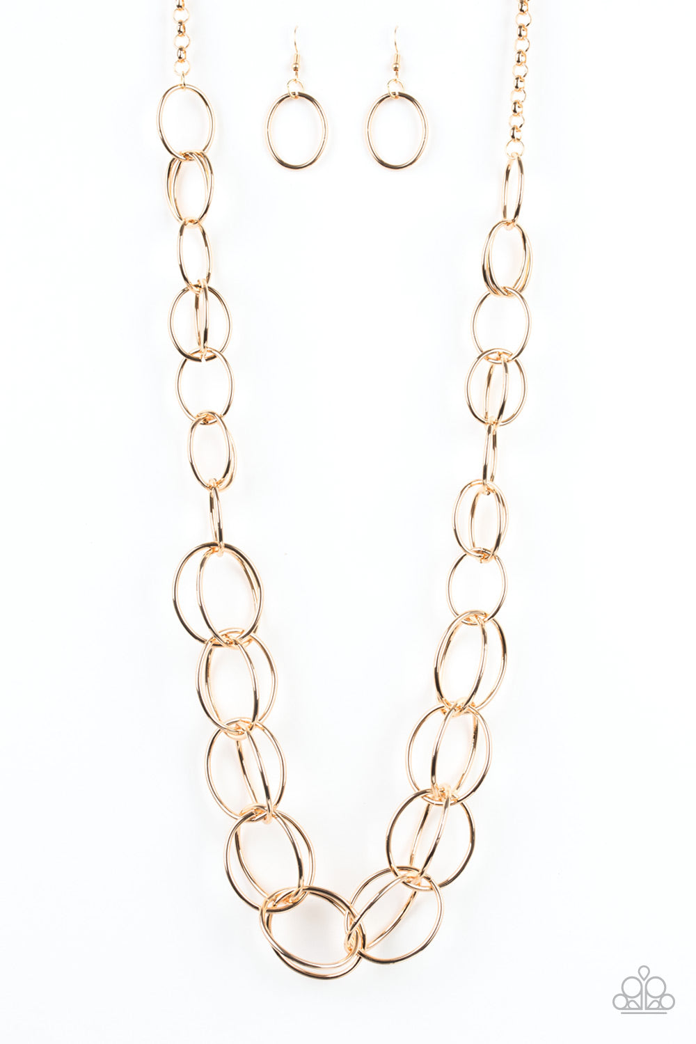 Elegantly Ensnared Paparazzi Necklace-Gold