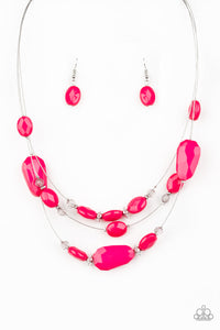 Radiant Reflections Paparazzi Necklace-Pink