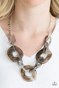 Courageously Chromatic Silver Paparazzi Necklace