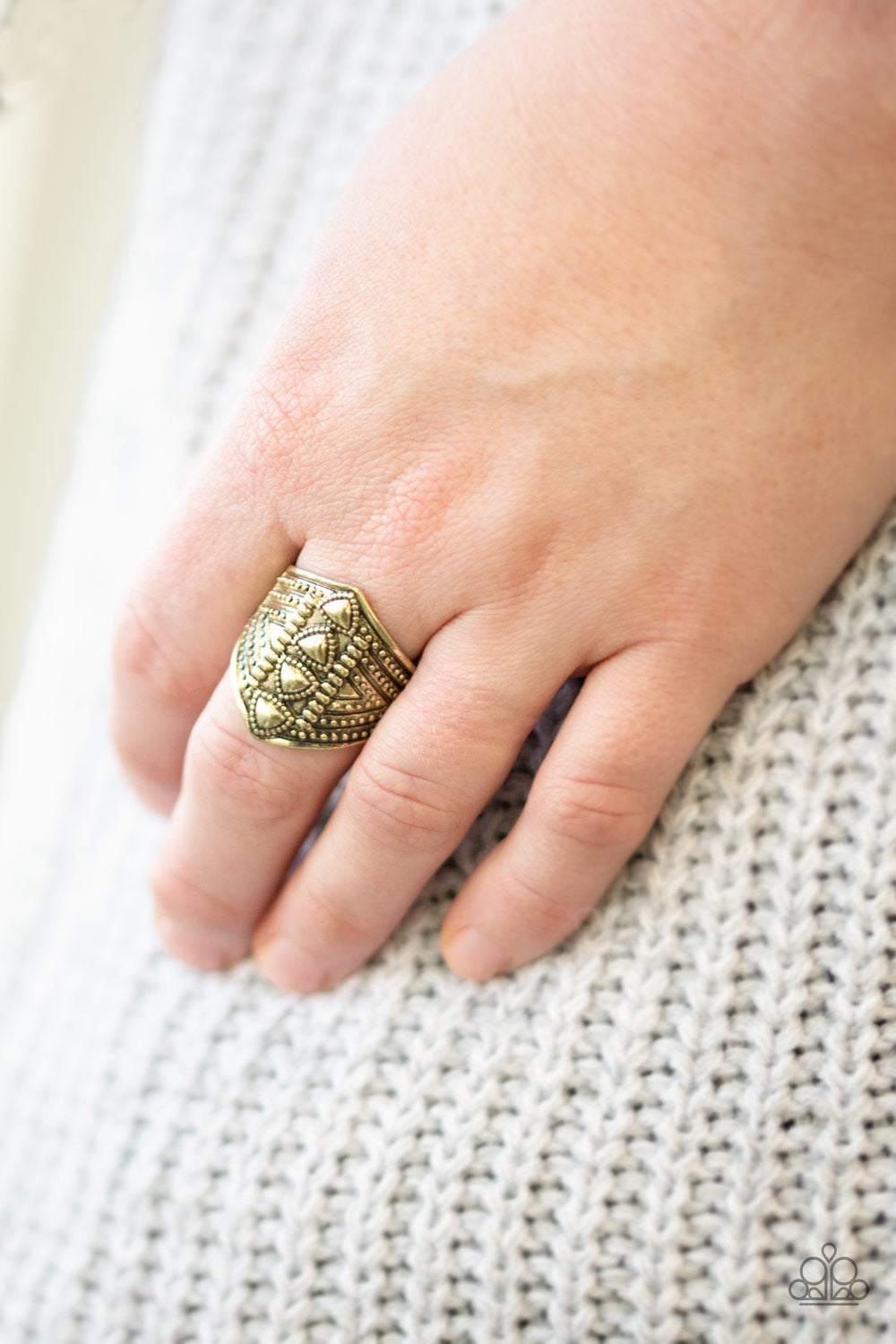 Texture Tracker Paparazzi Ring-Brass