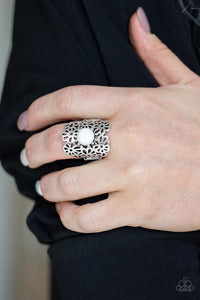 Flower Shower Paparazzi Ring-White