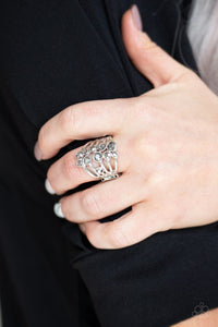 Meet In The Middle Paparazzi Ring-Silver