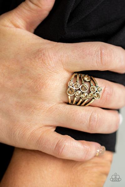 Meet In The Middle Paparazzi Ring-Brass