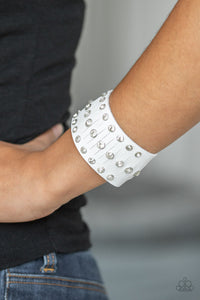 Now Taking The Stage Paparazzi Bracelet-White
