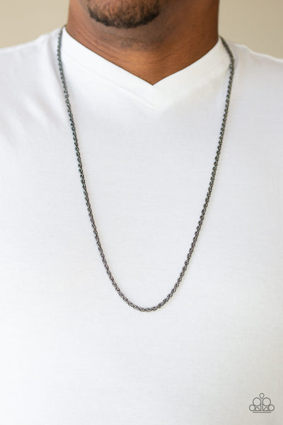 The Go-To Guy Paparazzi Necklace-Black
