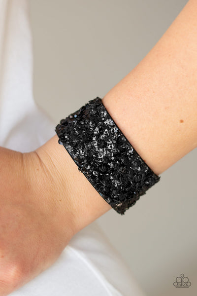 Starry Sequins Paparazzi Bracelet-Black