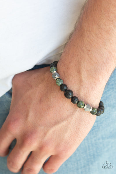 Strength Paparazzi Bracelet-Green