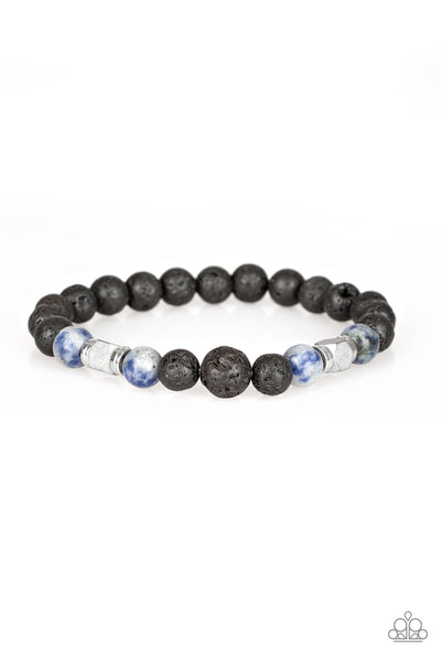 Strength Paparazzi Bracelet-Blue