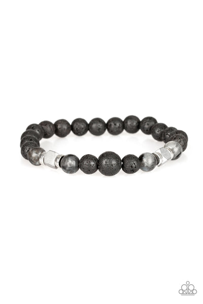 Strength Paparazzi Bracelet-Black