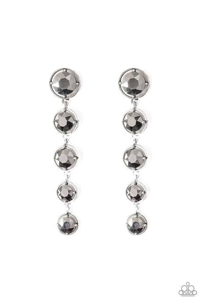 Drippin' In Starlight Paparazzi Earrings-Silver