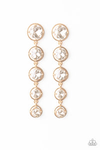 Drippin' In Starlight Paparazzi Earrings-Gold