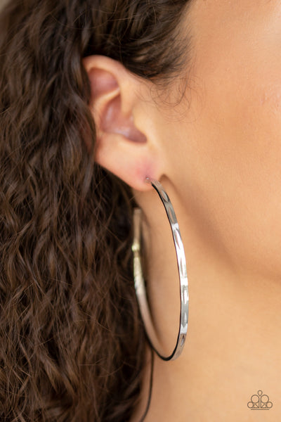 Full On Radical Paparazzi Earrings-Silver