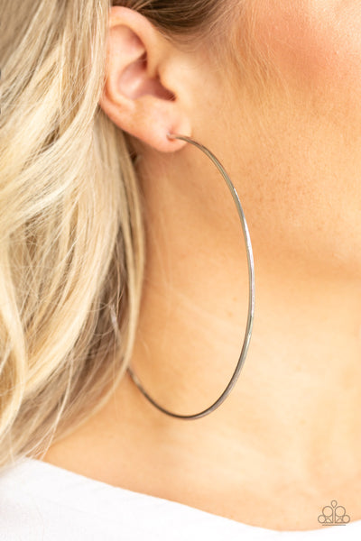 Extra Extra Paparazzi Earrings-Silver