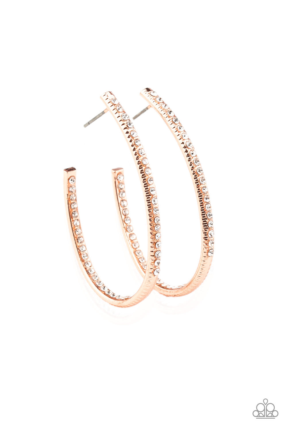 Globetrotting Glitter Paparazzi Earrings-Copper