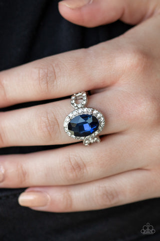 Magnificent Majesty Paparazzi Ring-Blue