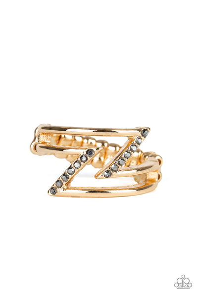 5th Avenue Flash Paparazzi Ring-Gold