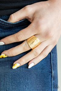 Rippling Rivers Paparazzi Ring-Gold