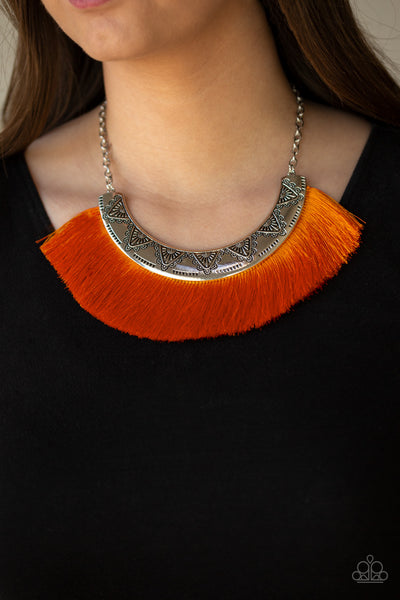 Might And MANE Paparazzi Necklace-Orange