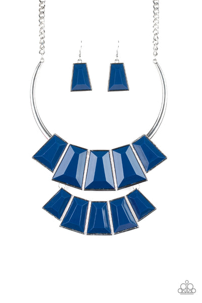 Lions, TIGRESS, And Bears Paparazzi Necklace - Blue