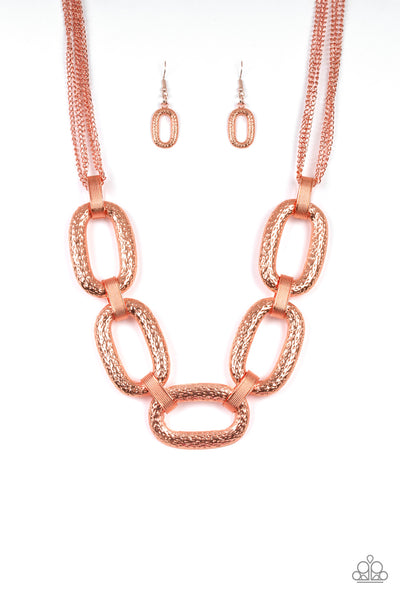 Take Charge Paparazzi Necklace-Copper