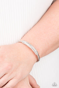 Day to Day Dazzle Paparazzi Bracelet-White