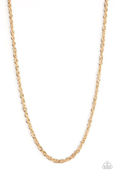 Lightweight Division Paparazzi Necklace-Gold