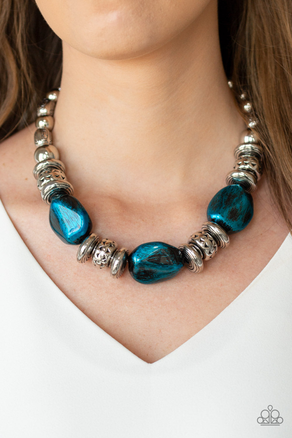 Colorfully Confident Blue Paparazzi Necklace