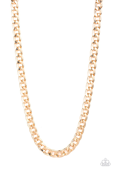 The Underdog Paparazzi Necklace-Gold