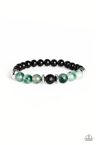 World Peace Paparazzi Bracelet-Green