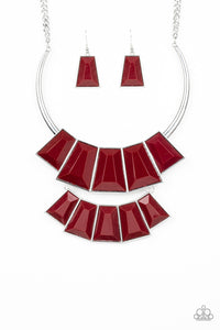 Lions, TIGRESS, And Bears Paparazzi Necklace - Red