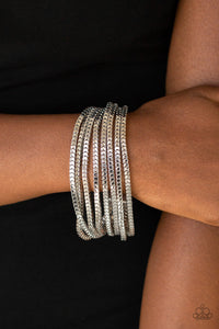 Out Of The Box Paparazzi Bracelet-Silver