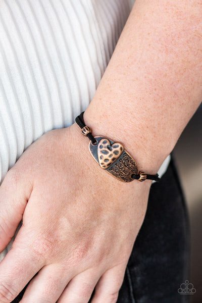 A Full Heart Paparazzi Bracelet-Copper