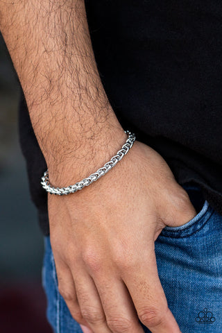 Knocked It Out Of The Park Paparazzi Bracelet-Silver