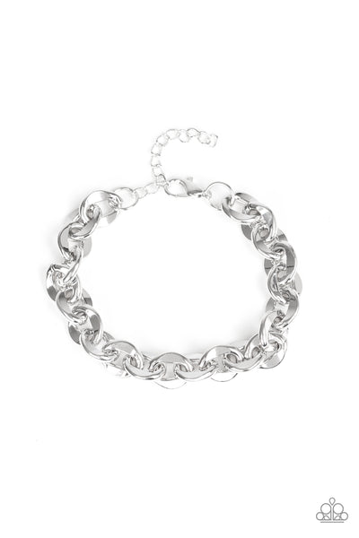 Step It Up Paparazzi Bracelet-Silver