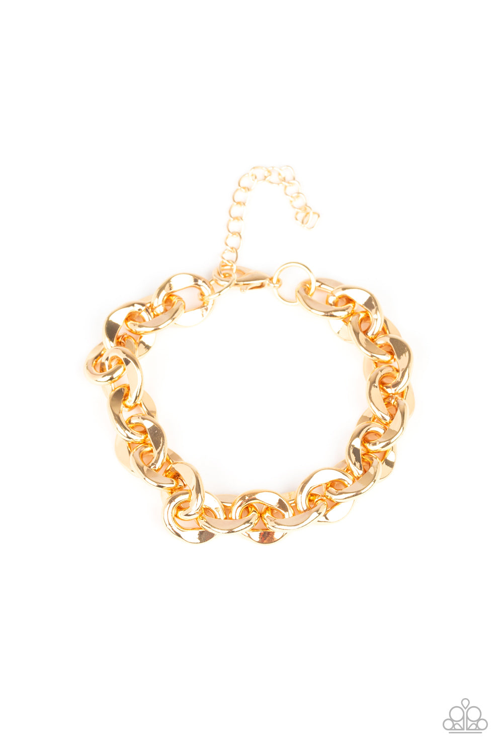 Step It Up Paparazzi Bracelet-Gold