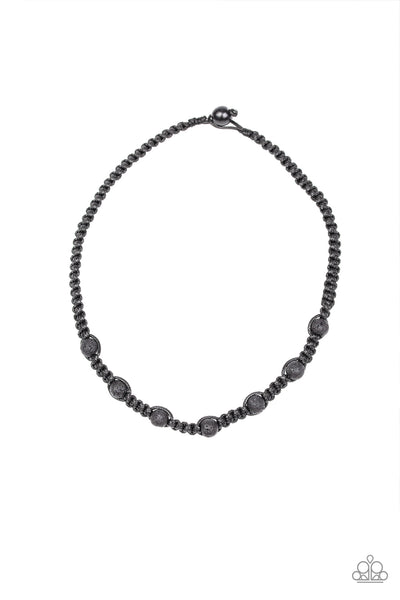 Rock Art Paparazzi Necklace-Black
