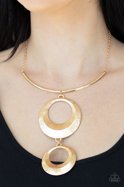 Egyptian Eclipse Paparazzi Necklace-Gold