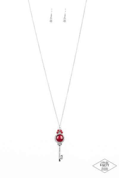 Unlock Every Door Paparazzi Necklace-Red